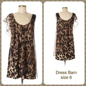 Leopard Animal Print Cocktail Dress Dress Barn 6